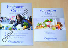 Weight Watchers Starter Set Programm Guide Sattmacher Liste ProPoints Plan *2015