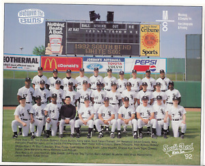 Lot of 3 Different South Bend White Sox Silver Hawks Team Photos Pictures MINT