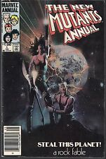 """NEW MUTANTS ANNUAL #1 MARVEL 1984 """"COSMIC CANNONBALL CAPER"""" CLAREMONT STORY FNVF"""