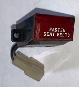 Fasten Seat Belt Switch off  Datsun 260Z.    —(T2–3)-