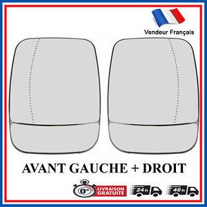 Kit de 2 Verre Mirroir de retroviseur avant pour Renault Trafic III = 963660940R