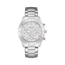 Caravelle Women's 43L190 Quartz Crystal Chronograph Silver-Tone 36mm Watch