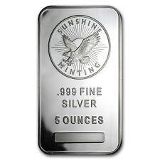 5 oz Silver Bar - Sunshine (MintMark SI) - SKU #83067