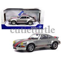 Solido 1973 Porsche 911 RSR 1:18 Diecast Model Car Silver S1801112