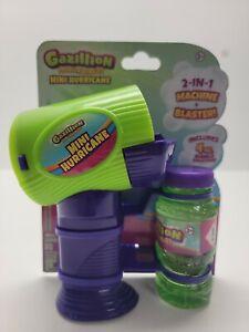 Gazillion Premium Bubbles Mini Hurricane 2-in-1 Machine & Blaster Includes 4 Oz