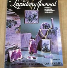 Lapidary Journal Gem Cutting Dec 78 Medical background stones Apache tears Lodes