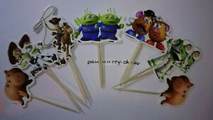 12 X TOY STORY Cake Picks /Cupcake Toppers Kid's Birthday Party Decorations #4 3