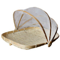 Bamboo Food Protector Cover Insect Net Tent Outdoor Patio Deck Picnic S2