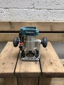 Makita Drt50 Cordless Router Laminate Trimmer 18v And Plunge Base Only  Used