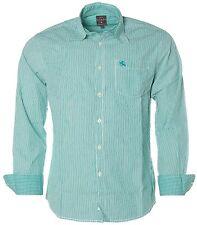 K5358 Kitaro Herren Langarm Shirt Hemd Kentkragen Streifen Emerald Green M