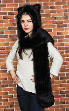 """""""Panther"""" Original animal hat from the Ukraine (Faux wolf hat Hoodie Spirithood)"""