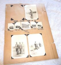 LOT OF 8 PHOTOS MILITARY SOLDIERS PARRIS ISLAND 1942 LEHIGH VALLEY ST BUFFALO NY