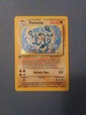 Machamp Holo First Edition Rare *8/102 LP Pokemon Base Set
