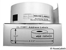 BROTHER Compatible DK-1201 : ONE HUNDRED (100) Rolls Address Labels - FREE SHIP