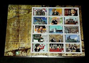 MARSHALL ISLANDS, 1997, 20th CENTURY 1910s, SHEET/15, MH, NICE! LQQK!