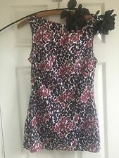 F&F Top Fitted Cotton Purple Sleeveless 8 10