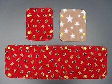 Reversible bumper cover & shoulder pads set for buggy/pushchair - teddy bears