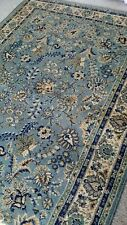 """Traditional Oriental style Rug Blue & Beige VGC Steam cleaned 54"""" x 76"""""""