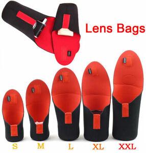 5Pcs Waterproof DSLR SLR Camera Lens Soft Protector Pouch Bag Case S M L XL XXL