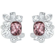 NWT Swarovski Formidable Pierced Earrings Clear Pink Crystal Pave 5226037 $99