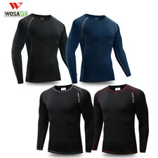 Mens Compression Shirt Thermal Base Layer Top Long-Sleeve Sports Gym Quick Dry
