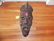 "Arts of Africa -  Ekoi Warrior Mask - Nigeria  - 21"" Height x 8"" Wide STG"