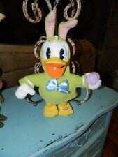 Hallmark Disney Donald Duck Plush Singing Animated Easter Bunny Duck