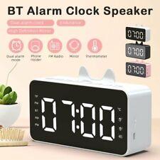 LED Wecker Digital Bluetooth Alarmwecker Wireless Lautsprecher Soundbox Radio