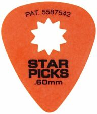 Pack of 8 Everly Star Picks - Orange .60mm