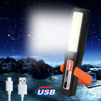 Magnetic COB LED Work Light USB Rechargeable Camping Tent Inspection Lamp Torch