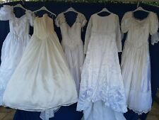 JOBLOT x 5 VINTAGE WEDDING DRESSES .PARTY PROM FANCY DRESS SHOP hire shop #E1