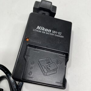 NIKON MH-62 GENUINE CAMERA LITHIUM-ION BATTERY CHARGER EN-EL8 & POWER CORD