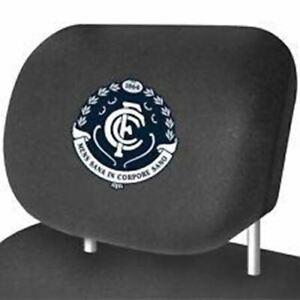 Carlton Blues Car Headrest Covers Set Of 2