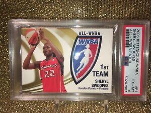 sheryl swoopes Houston Comets 2006 Rittenhouse WNBA Logowoman Patch /250 PSA