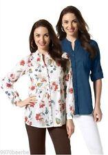Taillenlang Damenblusen,-Tops & -Shirts mit Button Down-Kragen für Freizeit