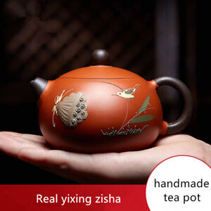 real yixing zisha fired guaranteed tea pot full handmade master pot ball infuser