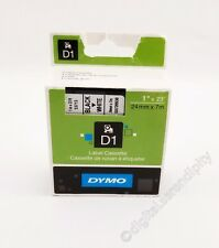 "Dymo 53713 D1 Printer Tape 1"" Black on White 