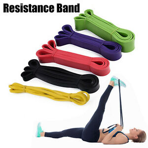 Heavy Duty Resistance Yoga bands loop Exercise Fitness Workout Band Gym Workout