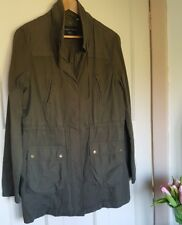 Dorothy Perkins Dark Green Khaki Coat Jacket Size 12 Parka Spring Lightweight