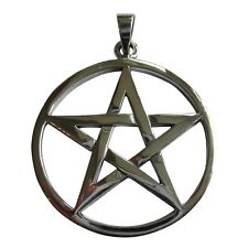 Sterling Silver (925)  Small Pentagram  Pendant ( 12 mm )   !!    New !