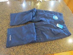Columbia NWT Blue Ski Snow Gun pants Large Men WM8008 464 waterproof Board