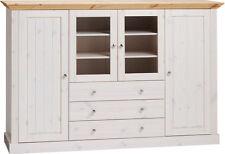 STEENS Massivholz Vitrine MONACO B 187 cm Landhaus Kiefer White Wash Gelaugt