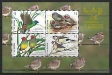 AUSTRALIA 2018 FINCHES OF AUSTRALIA CANBERRA STAMP SHOW MINISHEET UNMOUNTED MINT