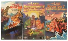 3 Land Before Time VHS Videos - 1 (one), II (two) and V (five) - 1988/1994/1997