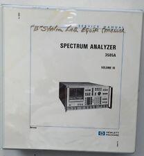 HP 3585A Spectrum Analyzer Service Manual Volume 3 P/N 03585-90006