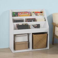 SoBuy Bücherregal für Kinder Zeitungsständer Aufbewahrungsregal, Weiß, KMB01-W