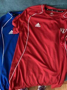 Adidas KU Kansas University Lot Athletic Shirts Size Large
