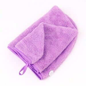 100% Cotton After Shower Hair Drying Wrap Towel Quick Dry Hair Cap Turban Lilac