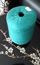 100% modal Yarn cone over 1000g color in emerald green
