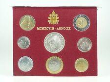*** LIRE KMS VATIKAN 1998 BU Lira Coin Set Vaticano Münzen vor Euro ***